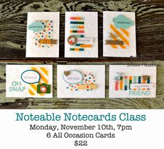 nice people STAMP! -- Cards from Playground Project Life by Stampin' Up! Accessory Pack.