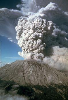 Mt, Saint Helens, Skamania County, Washington -eruption 7-22-80