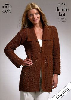Crochet Jacket and Tunic in King Cole Bamboo Cotton DK (3132)   Deramores