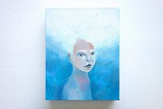 £200 Head in the Clouds  surreal painting portrait painting