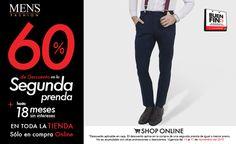 ¿#Pantalones #fashion? Compra una prenda y llévate la segunda con rebaja del 50% en sucursal o 60% en tienda online. Refresca tu imagen.   Dale clic: www.mensfashion.com.mx