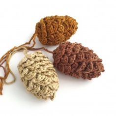 Pine Cone Decorations / Fir Cones Pinecones Twig Tree Decorations / Christmas Tree Ornaments / Crochet Pinecone Autumn Winter Holiday Decor Pine Cone decorations Fir Cones Christmas by LittleConkers on Etsy Twig Christmas Tree, Twig Tree, Crochet Christmas Trees, Christmas Ornaments, Pine Tree, White Christmas, Fir Cones, Pinecone Ornaments, Hanging Ornaments