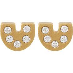 Linda Lee Johnson Diamond & Gold Palio Stud Earrings at Barneys.com Earring Crafts, Jack Rogers, Round Diamonds, Studs, Stud Finder, Stud Earrings, Womens Fashion, Gold, Jewelry