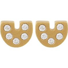 Linda Lee Johnson Diamond & Gold Palio Stud Earrings at Barneys.com
