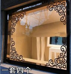 hoek stencil herbruikbare sjabloon voor diy muur decor muursticker sticker patronen diagonale spiegel bijgevoegde etalage glazen deur(China (Mainland))