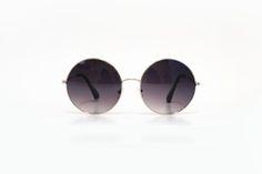 Óculos redondo cinza com lente degradê