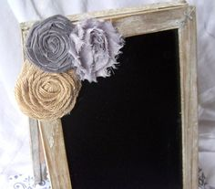 Guest Book Sign, Guest Book Chalkboard Sign - Easel Message board, Distressed Gray Wash, Shabby Chic, Burlap, Custom Colors on Etsy, $27.72 CAD