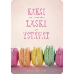Postikortti Kaksi on ikuista Staying Positive, How I Feel, Wise Words, Diy And Crafts, Friendship, Positivity, Feelings, Quotes, Cards