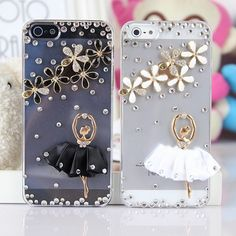 New Arrival Ballet Girl and Flower Hand Made Case for iPhone 5