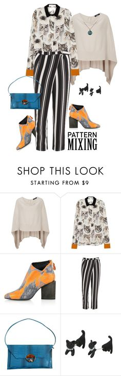 """""""Head-to-Toe Pattern Mixing"""" by lence-59 ❤ liked on Polyvore featuring STELLA McCARTNEY, Kim Kwang, Lavish Alice and WithChic"""