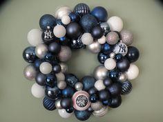 NEW YORK YANKEES Ornament Wreath. $59.00, via Etsy.