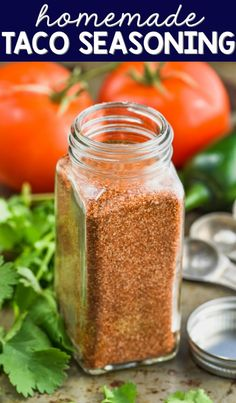 This Homemade Taco Seasoning is so easy to make and is perfect for so many recipes!