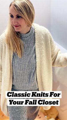 Easy Sweater Knitting Patterns, Knitting Machine Patterns, Free Knitting, Fall Crafts, Knit Crochet, Knitwear, Stylish, Sweaters, Diy Stuff