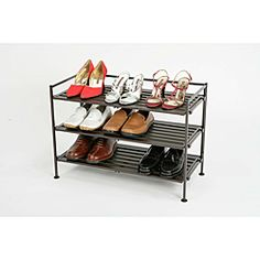 @Overstock - Seville Classics Mocha Utility Shoe Rack - Keep your shoes organized with this three-tier utility shoe rack. This rack features removable resin wood composite panels for connecting multiple shoe racks and a beautiful mocha finish.  http://www.overstock.com/Office-Supplies/Seville-Classics-Mocha-Utility-Shoe-Rack/6479262/product.html?CID=214117 $31.99