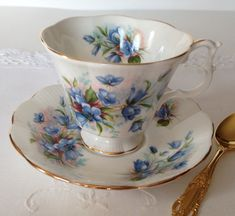 Royal Albert China Tea Cup & Saucer by NicerThanNewVintage