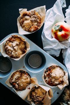 Big Crumb Apple Muffins from @crepesofwrath