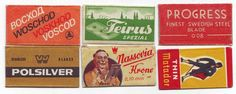 Safety Razor Double Edge vintage Blade worldwide COLLECTION 6 different