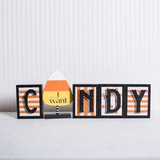 Candy Wood Letter Block
