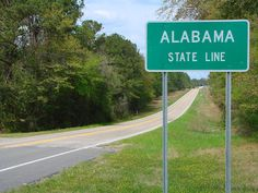 Alabama... Drove from pensicola florida, through alabama, to georgia ... long  drive