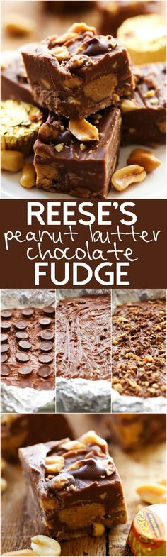 Smooth creamy chocolate-peanut butter fudge with crunchy peanut pieces and REESE'S in each and every bite! It is incredible!
