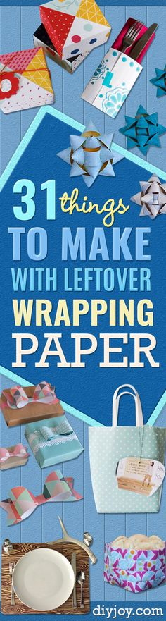 Cool Things to Make With Leftover Wrapping Paper - Step by Step Tutorials With Instructions