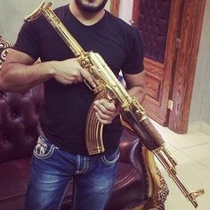Narco Instagram Photos Gold AK 47