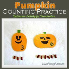 Easy Halloween activity for Preschool. Halloween math activity.