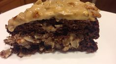 German Chocolate Cake & Icing- Sugar Free- Gluten Free, S dessert.