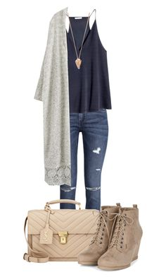 Untitled #303 by mercedes-designs on Polyvore featuring polyvore, fashion, style, H&M, Yves Saint Laurent, Pamela Love and clothing
