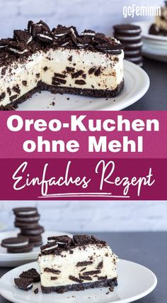 Dessert Recipes For Kids, Healthy Dessert Recipes, Health Desserts, Healthy Baking, Easy Desserts, Dessert Food, Dessert Simple, Oreo Cheesecake, Oreo Cake