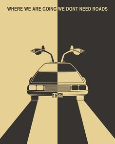 Back to the Future Art Print 8x9 $19