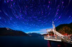 The light from a thousand stars, some of it travelling for more than 10,000 years...  Photo: Alexis Birkill Porteau Cove Provincial Park, BC   #BritishColumbia