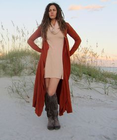 Long Tie Belt Cardigan hemp/organic cotton knit by gaiaconceptions, $155.00