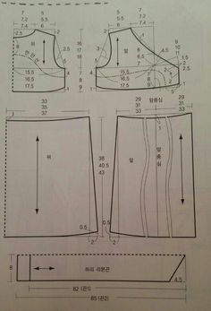 원피스 패턴 : 네이버 블로그 Korean Dress, Sewing Patterns, Diagram, My Style, Dresses, Stitching, Fashion, Vestidos, Patron Couture Facile