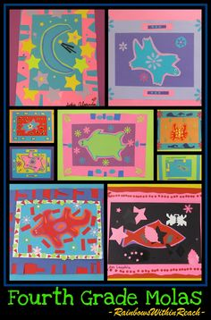 Molas Paper Artwork by Fourth Graders via RainbowsWithinReach