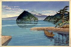 Mitsu, Izu  by Kawase Hasui, 1930  (published by Watanabe Shozaburo)