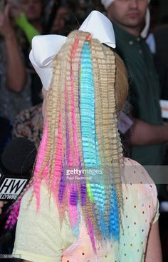 Dancer JoJo Siwa, hair detail, on the red carpet at JoJo Siwa from... News Photo | Getty Images