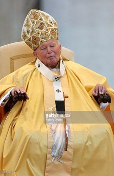 Pope John Paul II presides at his 25th anniversary celebration ceremony October 16, 2003 in Vatican City, Italy. The Pope is celebrating 25 years as head of the Roman Catholic Church.