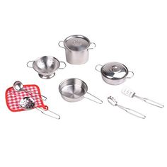 Uptown Toys Stainless Steel Pretend Play Pans and Utensils 11 Piece Set >>> This is an Amazon Affiliate link. You can find more details by visiting the image link.