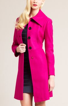 Cobalt blue coat. This one not current, but I love the style and ...