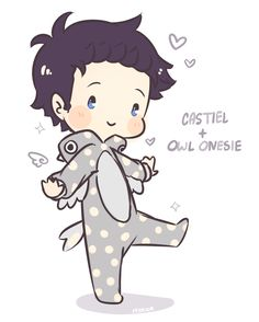 Someone mentioned Cas + cute pj and I couldn't resist
