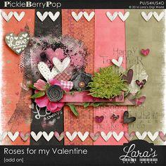 Lara´s Digi World - Digital Scrapbooking Designs: Roses for my Valentine Digital Scrapbooking Freebies, Photo Heart, Scrapbook Designs, Bird Design, Green Flowers, Paper Background, Word Art, Art Images, Floral Wreath