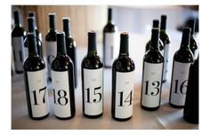 Wine Advent Calendar If beer is not your preferred choice, wine bottles can easily be numbered too.