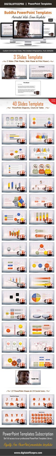 Flying Keyboard PowerPoint Template Backgrounds | Charts ...