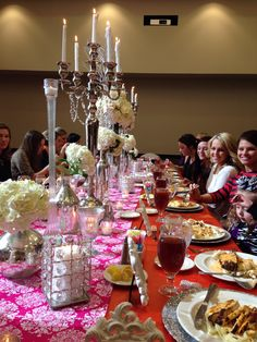 Pink & orange Bridal Luncheon