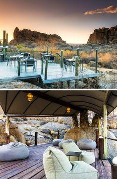 Erongo Wilderness Lodge is the perfect spot to explore the spectacular and unique scenery of Namibia.  #lodge #africanlodge #namibia #explore #traveltonamibia #lounge #namibianscenery