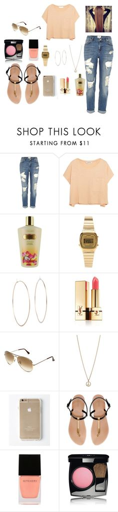 """Untitled #23"" by liel2900 ❤ liked on Polyvore featuring River Island, Elizabeth and James, Victoria's Secret, Casio, Michael Kors, Yves Saint Laurent, Ray-Ban, Minor Obsessions, Zara and Witchery"