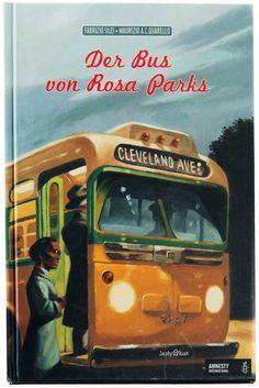 Ben ist enttäuscht, als sein Großvater ihm im Museum nur einen alten Bus zeigen will. Doch dann lauscht er gebannt der Geschichte von Rosa Parks: Im Jahr 1955 hat nämlich sein Großvater in genau diesem Bus neben Rosa Parks gesessen, als sie sich weigerte, ihren Platz für einen Weißen freizumachen. Und dieses mutige Nein sollte die ganze Welt bewegen!  Fabrizio Silei gelingt es, diese wichtige Episode in der Geschichte der schwarzen Bevölkerung Amerikas anschaulich und kindgerecht zu… Rosa Parks, Amnesty International, Der Bus, Abs, Museum, Livres, Social Control, History, Reading