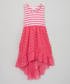 Take+a+look+at+the+Pink+Stripe+&+Polka+Dot+Chiffon+Dress+-+Girls+on+#zulily+today!
