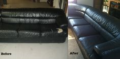 Check Out This Leather Section Repair and Restoration  #allcountyleather #leatherrepairparamus